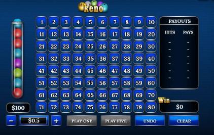keno играть онлайн бесплатно