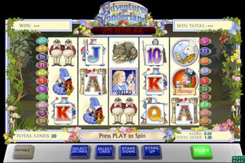 adventures in wonderland bonus slots