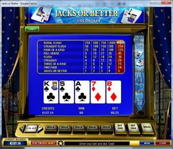 video poker strategy hold on to your ace
