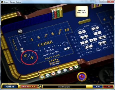 craps online multi roll bet